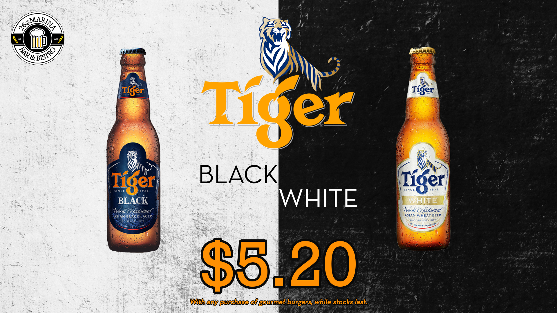 Tiger Black White Promo 26@Marina